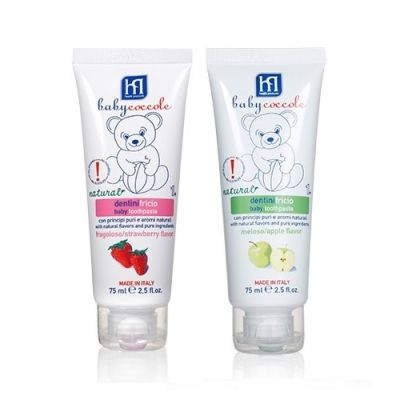 Baby Toothpaste (Strawberry flavour) + Baby Toothpaste (Apple)
