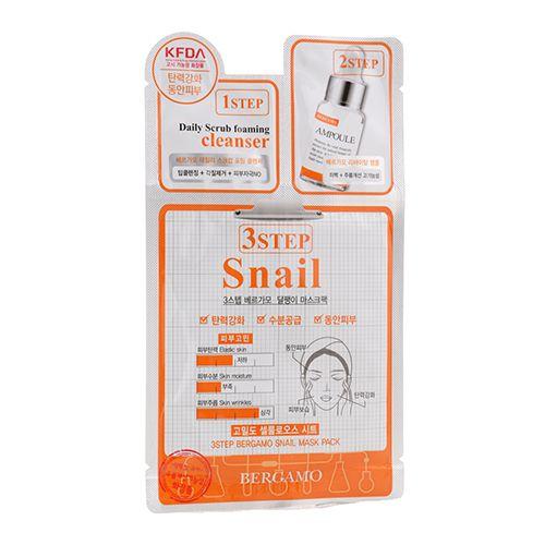 3Step Bergamo Mask Pack - Snail 10pcs Lindi Skin Lip Balm, 0.25 Ounce