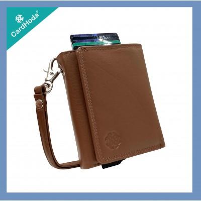 RFID智能防護錢包 ~ Ladies (真皮) - brown-P04001