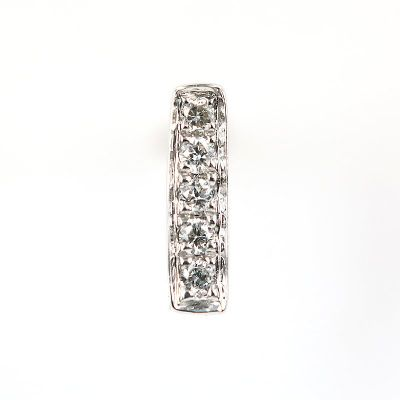 6mm I字母鑽石耳環