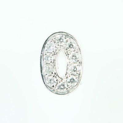 6mm O字母鑽石耳環