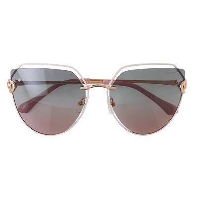 粉金色镜框, 渐变色镜片镶钻太阳眼镜 (ASG904B-2)