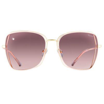 粉金色镜框, 渐变色镜片镶钻太阳眼镜 (ASG913A-2)