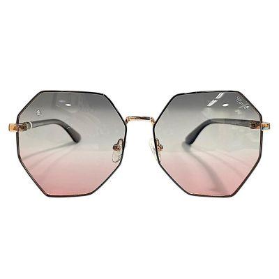 枪色镜框, 渐变色镜片镶钻太阳眼镜 (ASG916C-2)