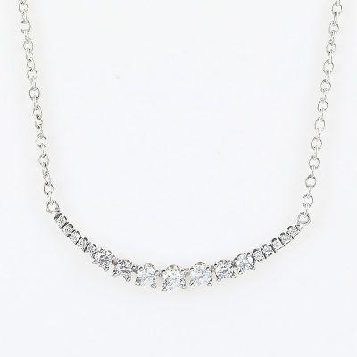 SS925纯银锆石曲线项鍊