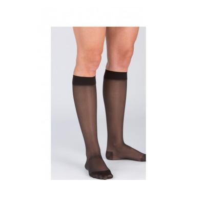 [2件裝] 醫療漸進式壓力襪 #18 黑色 (有咀襪) L 碼