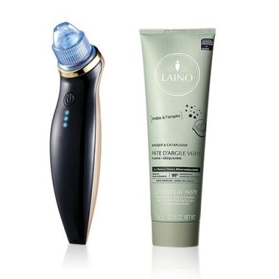Buy Dr.Bauer-Blue LED Blackhead Remover Get LAINO-Green Clay Paste