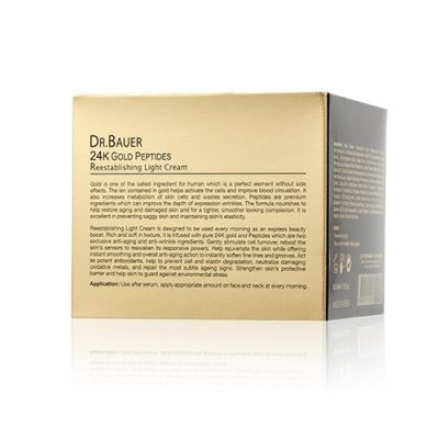 24K Gold Peptides Collection Reestabliishing Light Cream