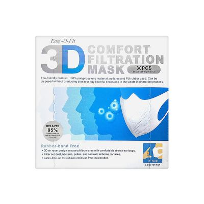 Adult 3D Surgical Mask 30pcs(PFE+BFE Made in TW)
