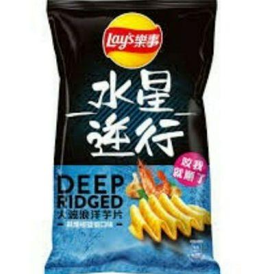 [2件裝] Lays大波浪薯片(蒜爆椒鹽蝦口味) 台灣限定