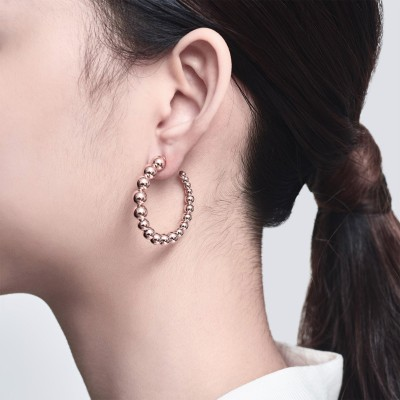意大利Balls系列 純銀鍍18K玫瑰金 耳環