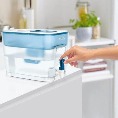 BRITA - 【一箱七芯】Flow 8.2L 濾水箱 (藍色) + MAXTRA+濾芯 (6件裝)