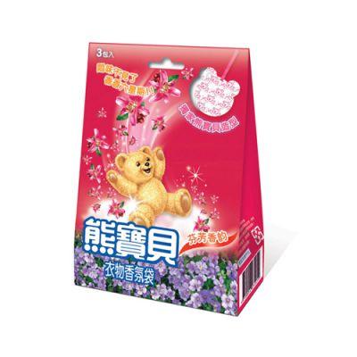 熊寶貝衣物香氛袋 - 芬芳香韵(紅)