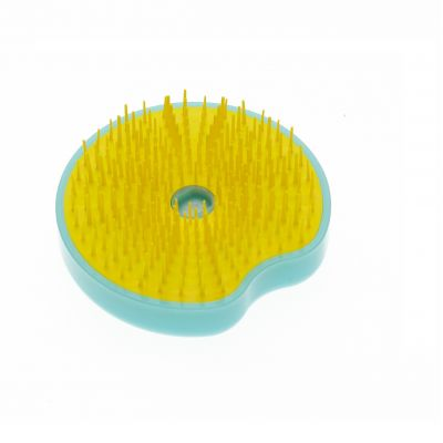 Compact hairbrush (Yellow/ Turquoise)