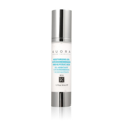 Moisturising Gel with Biomembranes & Glycolic Acid SPF10