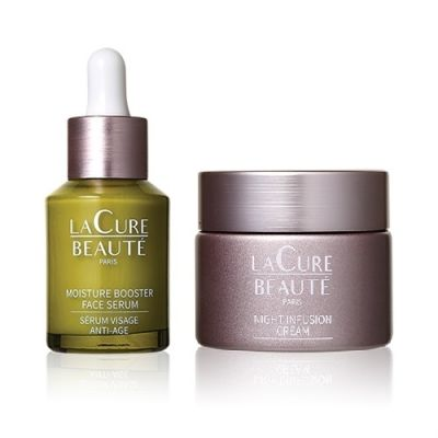 Moisture Booster Face Serum + Night Infusion Cream