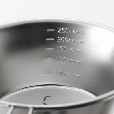 G-100 不銹鋼Sierra杯 300ml (帶刻度) - 銀色