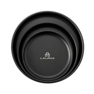 TW-021BK 不銹鋼餐盤套裝 (3個裝) - 黑色