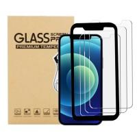 ALOK 12PM (3片裝) Apple iPhone 12 PRO MAX 6.7吋手機鋼化玻璃保護貼連貼膜器(非全屏)
