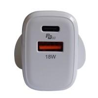 ALOK 20W PD3.0 USB Type C PD + QC3.0 USB 快速充電器適用於iPhone 12 mini,iPhone 12,iPhone 12 Pro,iPhone 12 Pro Max