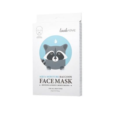Aqua Moisture Raccoon Face Mask