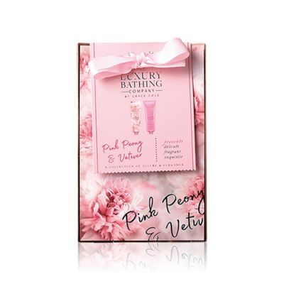 Dainty Duo–Pink Peony & Vetiver Hand and Nail Cream 50ml+Body Cream 50ml