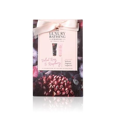丝绒玫瑰与红桑子香氛护甲润手霜50毫升 + 身体护肤霜50毫升