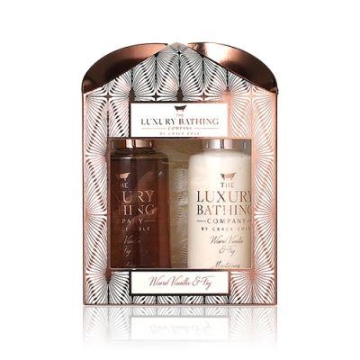 Tranquil Times–Warm Vanilla & Fig Body Wash 100ml + Body Cream 100ml + Body Polisher