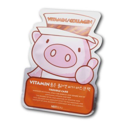 Collagen Piggy Mask Pack (Trouble Care)