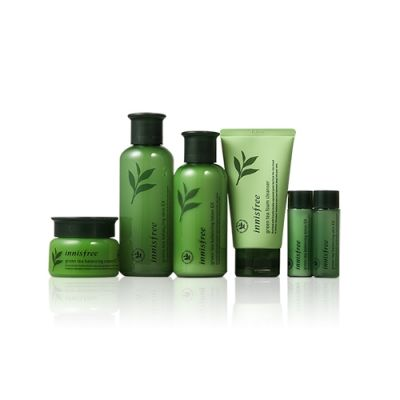 Green Tea Balancing Skin Care Trio Set EX (6 Items)