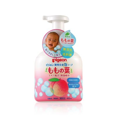 Baby medicated foam soap peach leaf