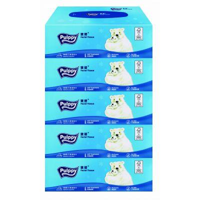 三層盒裝面紙巾5盒裝