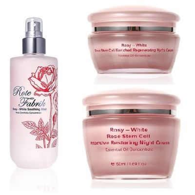 Rosy-White [Buy 2 get 1 free] White Rose Stem Cell Intensive Restoring Night Cream + Rosy-White Rose Stem Cell Enriched Regenerating Hydra Cream Free Rosy-White Soothing Mist