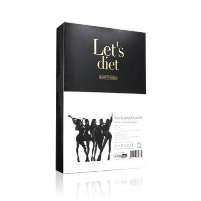韓國Let's Diet 魔力彈力顯瘦仿皮褲 (亮光黑)