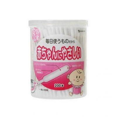 嬰兒用棉花棒200支(圓筒)