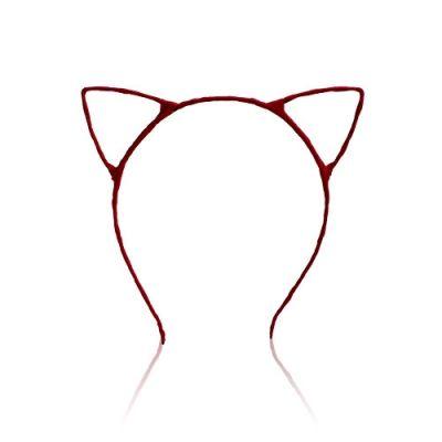 貓耳朵髮箍(紅)