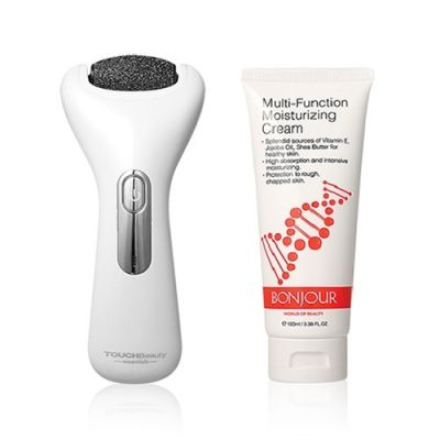 Electric Pedicure Device + Multi-Action Moisturizing Cream