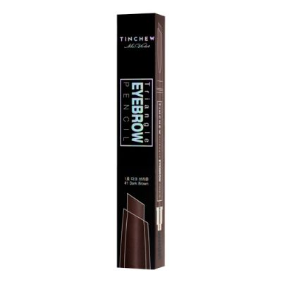 TINCHEW Triangle Eyebrow Pencil #01 Dark Brown