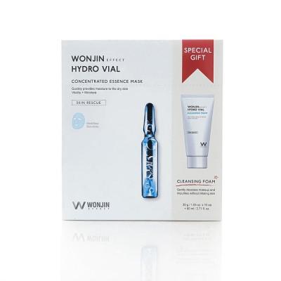 Wonjin Effect 透明質酸安瓶補水面膜10片+保濕洗面80ml套裝:到期日202207