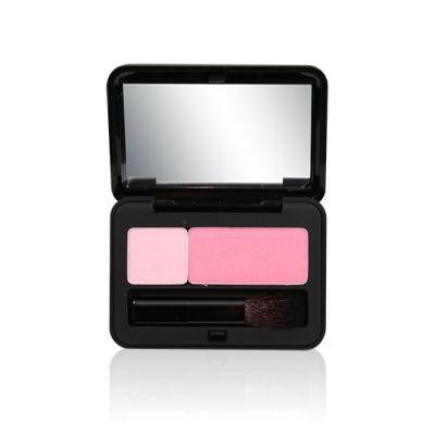 甜頰光感胭脂粉#01草莓奶昔 + 美瞳3D立體睫毛膏-黑