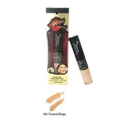 Cover Pro Concealer Duo (#01 Natural Beige) + Studio HD Miracle Compact SPF25 PA++ [Upgrade Version] #01