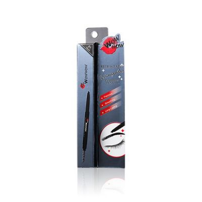 Retractable Triangular Eyebrow Pencil - 01 Black (Upgrade)